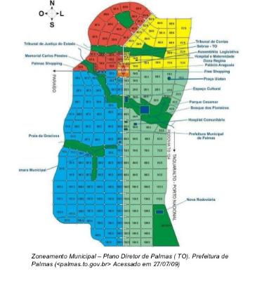Mapa Palmas Bairros